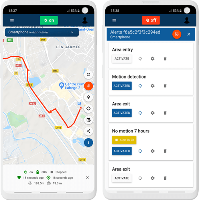 capturs application live tracking and alerts