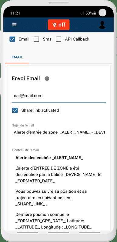 Personnalisez l'envoi de vos alertes sur l'application Capturs