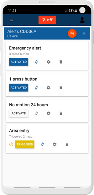 custom differents types of alerts