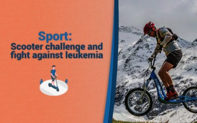 Scooter challenge and fight against leukemia