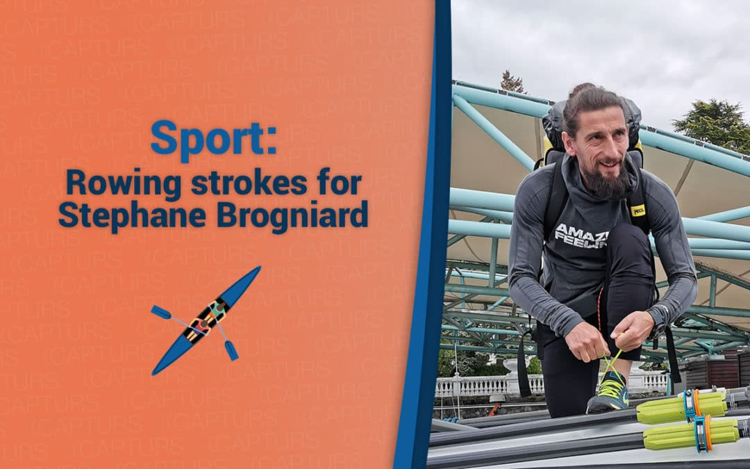 Rowing strokes for Stephane Brogniard