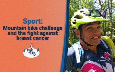 Mountain bike challenge and breast cancer