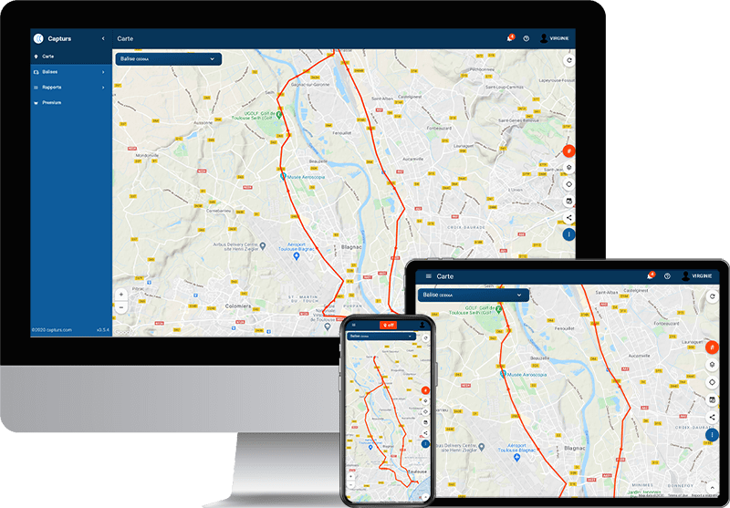 Connect the Capturs gps tracker to the web platform or to the application