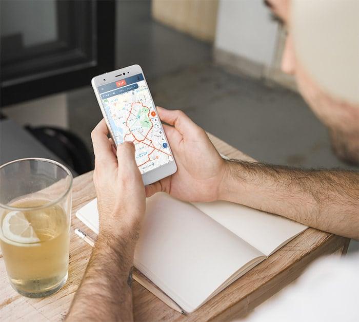 Suivi live de votre trajectoire avec l'application capturs