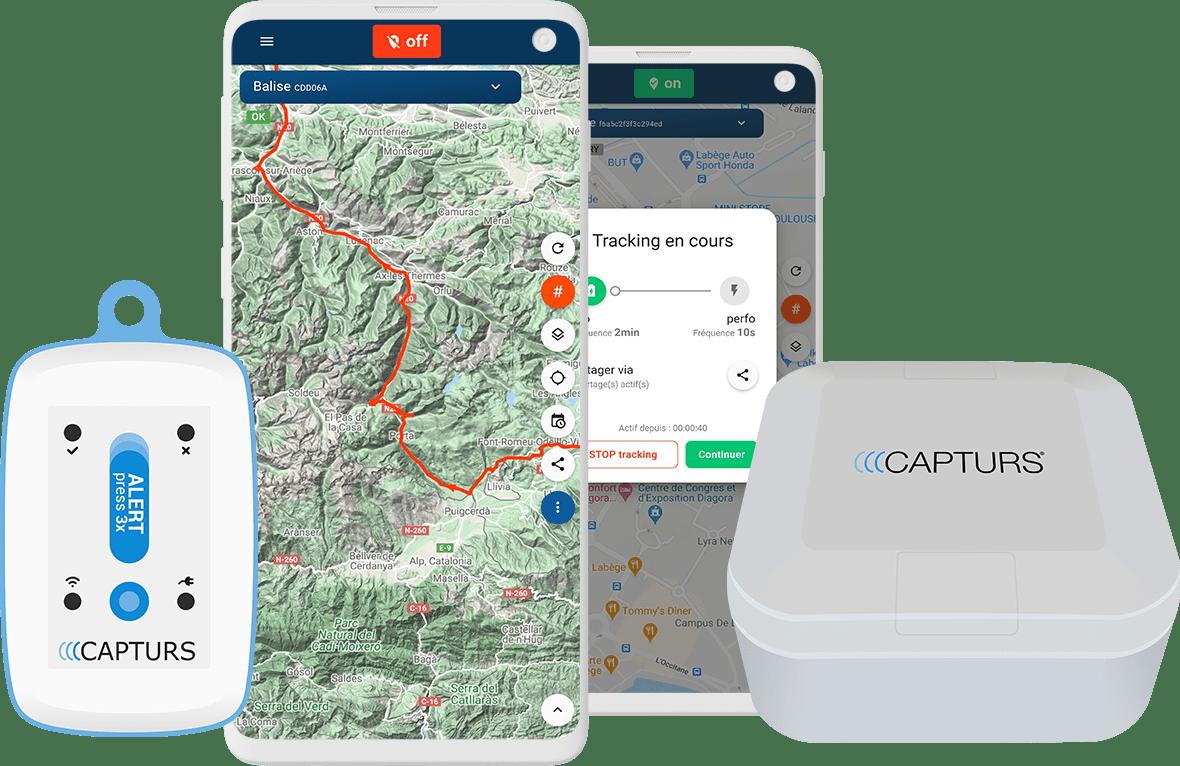 Traceurs GPS Capturs de suivi GPS en temps réel