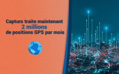 Capturs traite désormais 2 millions de positions GPS par mois