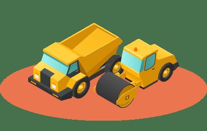 Placez les traceurs GPS sur les engins de chantier