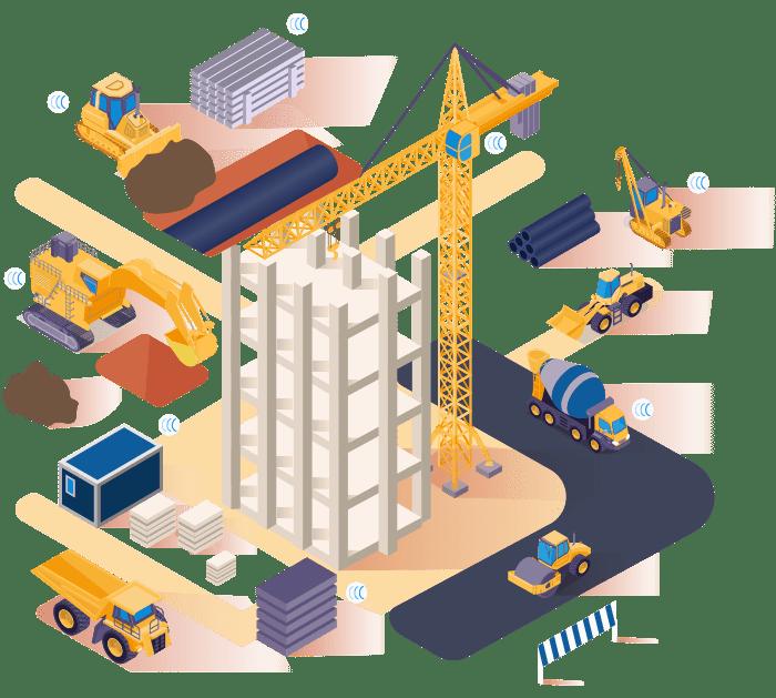 Traceur GPS de chantier et BTP