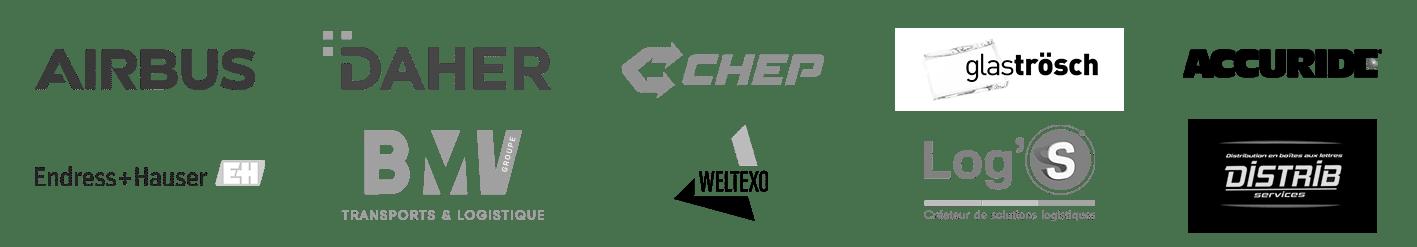 Airbus Daher Chep Glastrosch accuride EH BMV Weltexo Log's Distrib Services