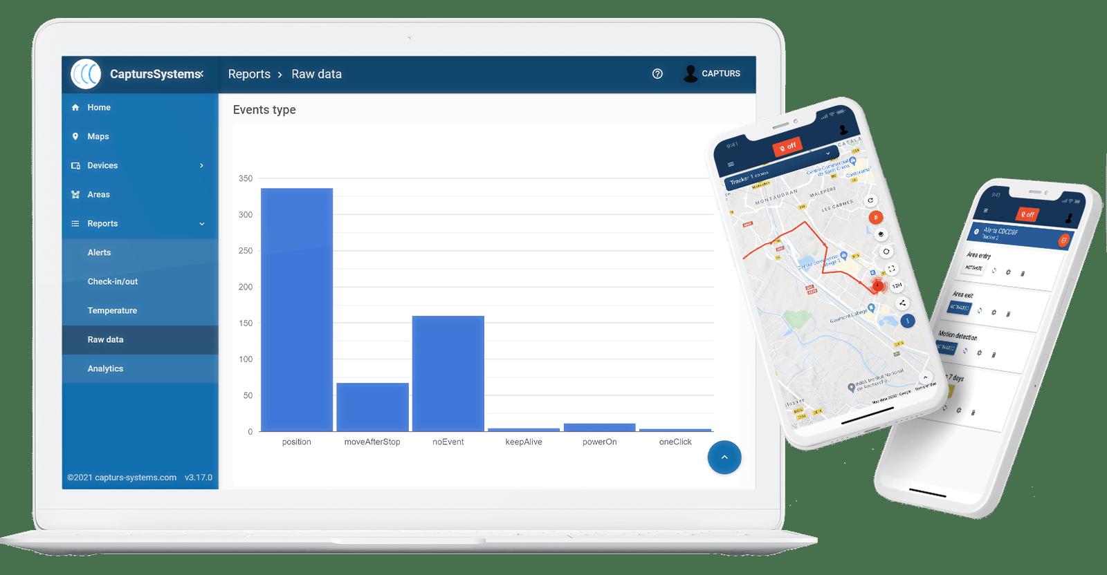 Visualisez et analysez vos traceurs en temps réel sur la plateforme Capturs