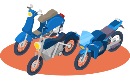 Place your trackers on your two wheels