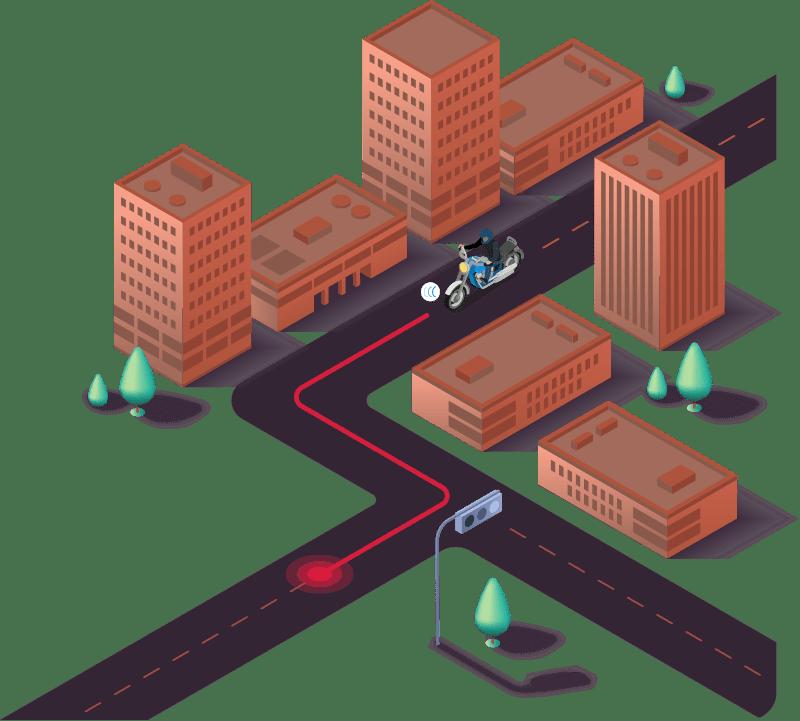 Traceur GPS deux roues - adapté aux motos et scooters